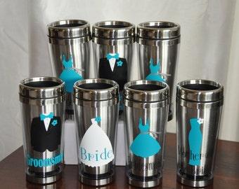 Wedding Party/ Travel Coffee Mug/ Bridesmaid/ Bride