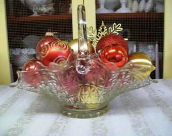 Large Glass Basket, Unique Size and Shape