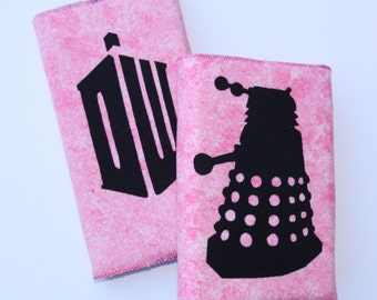 Dr Who Inspired 2017 or 2016 / 2017 Academic Diary & Notebook / Journal Gift Set Pink