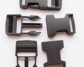 5 pcs Bag Buckles clamp webbing buckles belt buckle release plastic buckle 25 mm -Sewing Supply for Bag , strap