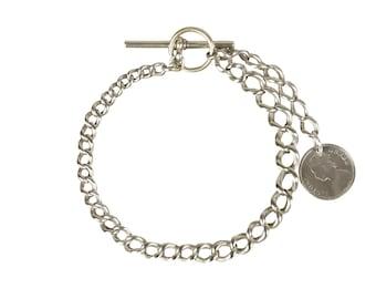 Antique Sterling Silver Victorian Bracelet Pocket Watch Chain