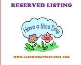 Reserved Listing for Chrysti