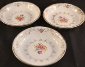 Stetson China Golden Beauty Dessert Bowl, Sauce Bowl, Fruit Bowl 22K Gold Urns Scrolls Floral, Golden Beauty Replacement Piece, Set of 3