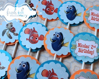 Finding Nemo Boy Cupcake Toppers
