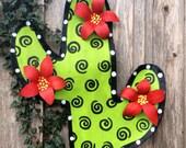 Cactus Screen Door Hanger Wreath
