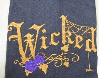Wicked Halloween Towel - DISCOUNTED FOR FLAW