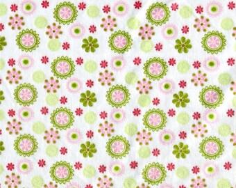Daisy Minky, Pink Minky, Smooth Minky, Green Minky, Soft Fabric, 1 Yard Fabric