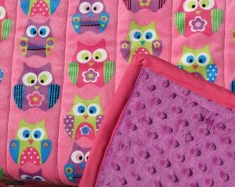 Free Shipping! Weighted Blanket Medium Sized Dual Sided Minky  Premade and Lined- 3-7lbs. 40x60 Blanket  Fast Turn Around