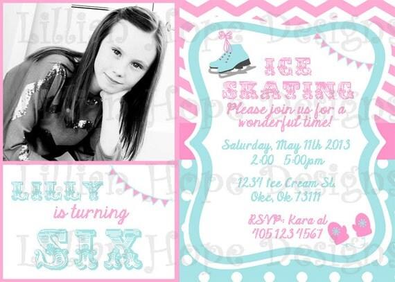 Ice Skating Party Invitation Ice Skating Birthday PRINTABLE – Ice Skating Party Invitations