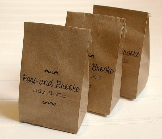 Tiny Wedding Favor Bags Candy Bags Kraft Paper Bridal