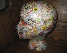 Mannequin Head  - Comics - Cartoons - Display Art Piece - Hat Display