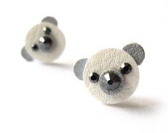 TEDDY BEAR EARRINGS, polar bear earrings
