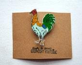 Cockerel Brooch Cute Brooch Rooster Pin