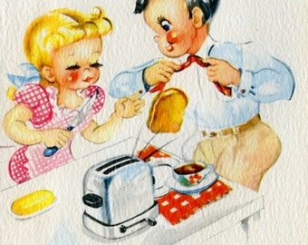 TREASURY ITEM-Here comes the Warm-toast Butterer for your craftwork projects