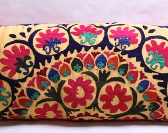Vintage Hand Embroidered Suzani Pillow