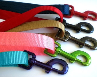 Solid Color Nylon Dog Leash - Many Colors