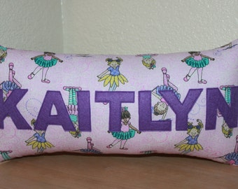Ballerina Name Pillow / Custom Kids Pillow / Name Pillow / Kids Name Pillow / Ballerina Decorative Pillow