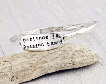 Patience Bangle - Cowgirl Jewelry - Inspirational Bracelet - B373