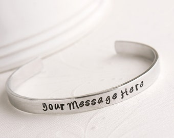 Bridesmaid Gift - Maid of Honor Gift - Personalized Your Message Here Bracelet - Gift for Sister - Gift for Daughter