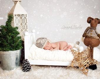 Knit baby hat snowflake