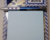 Nautical Post it note acrylic holder, Jot it down, postit