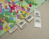 60 Custom Satin Labels - Folded