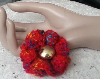 Crochet Flower Brooch - Crochet Flower Pin - Crochet Flower - Flower Pin - Ruffled Flower Pin - FREE UK delivery