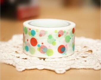 Colorful Bubble Japanese Washi Tape Rice Paper Tape Masking Tape - 5m
