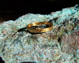 24k Solid Gold Ring