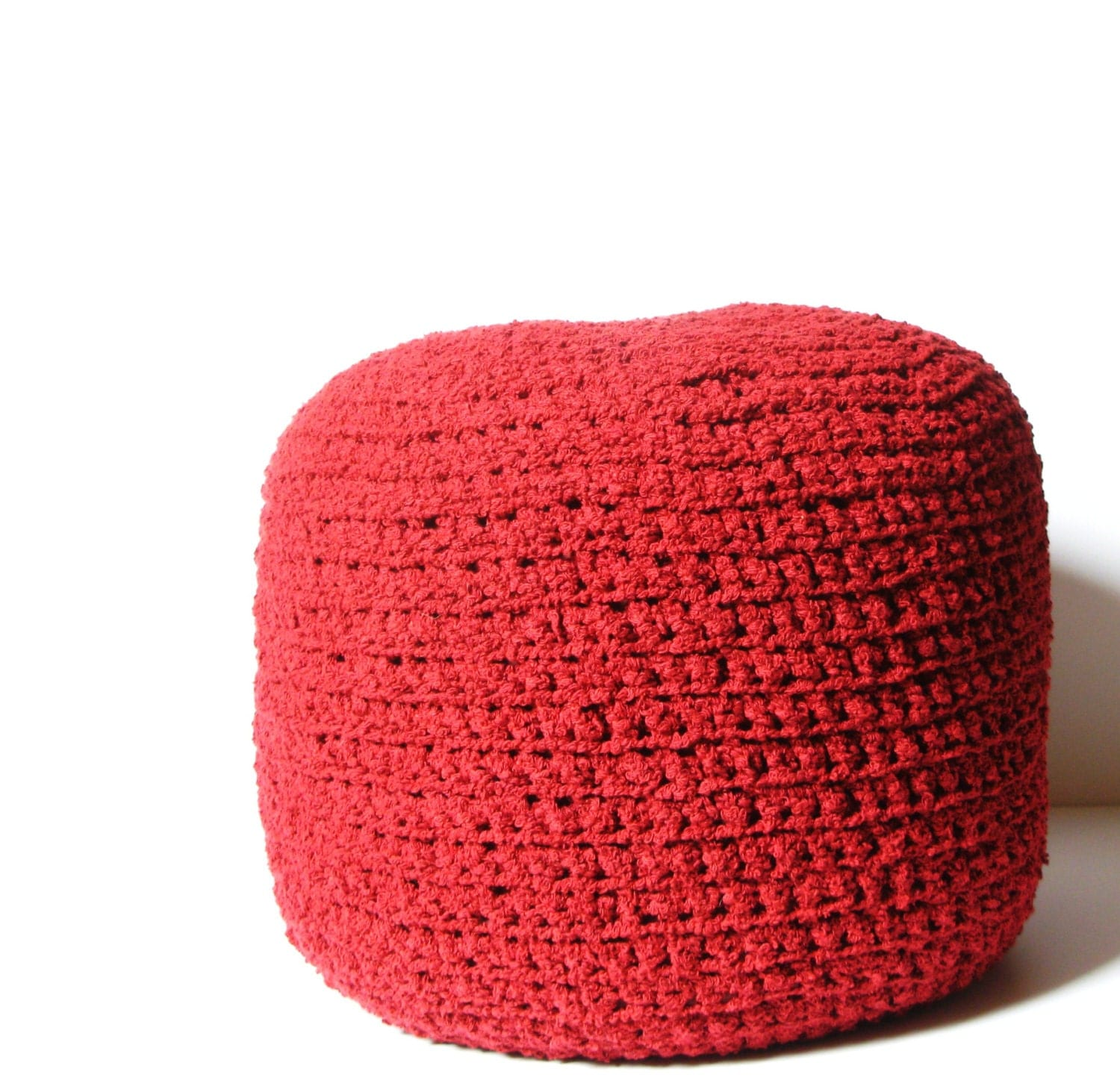 Crochet Ottoman : Crocheted Pouf ottoman foot stool floor pillow by spellitwithPEAS