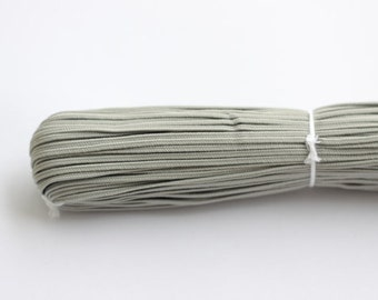 5.5 yards light Grey Soutache Braid, Passementerie Braid, embroidery, Soutache cord, Passementerie cord Trim, gimp cord, russian braid
