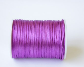 purple rat tail, Rattail Cord, Knotting cord, 2. 5 mm  Satin cord,  Beading cord, Jewelery supplies, cord for bracelet, 10 meters (11 yards)