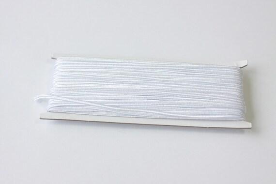 5.5 yards White Soutache Braid, Passementerie Braid, embroidery, Soutache cord, Passementerie cord Trim, gimp cord, russian braid