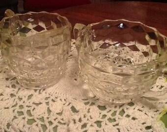 Fostoria Glass Cream and Sugar