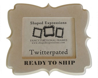 READY TO SHIP - 5x7 Twitterpated unfinished picture frame