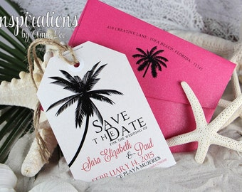 Luggage Tag save The Dates, Destination Wedding, Travel Tags