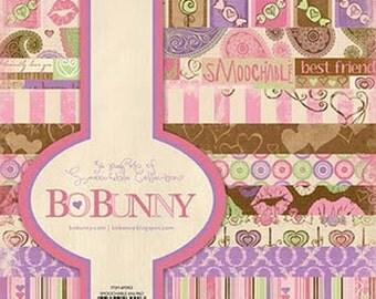 Bo Bunny SMOOCHABLE 6x6 paper pad BoBunny paperpad 6 x 6