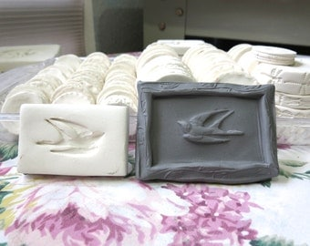 Clay Sprig Swooping Bird Pottery Press Mold Relief Mold or  Bisque Clay for Ceramic Decoration and Texture