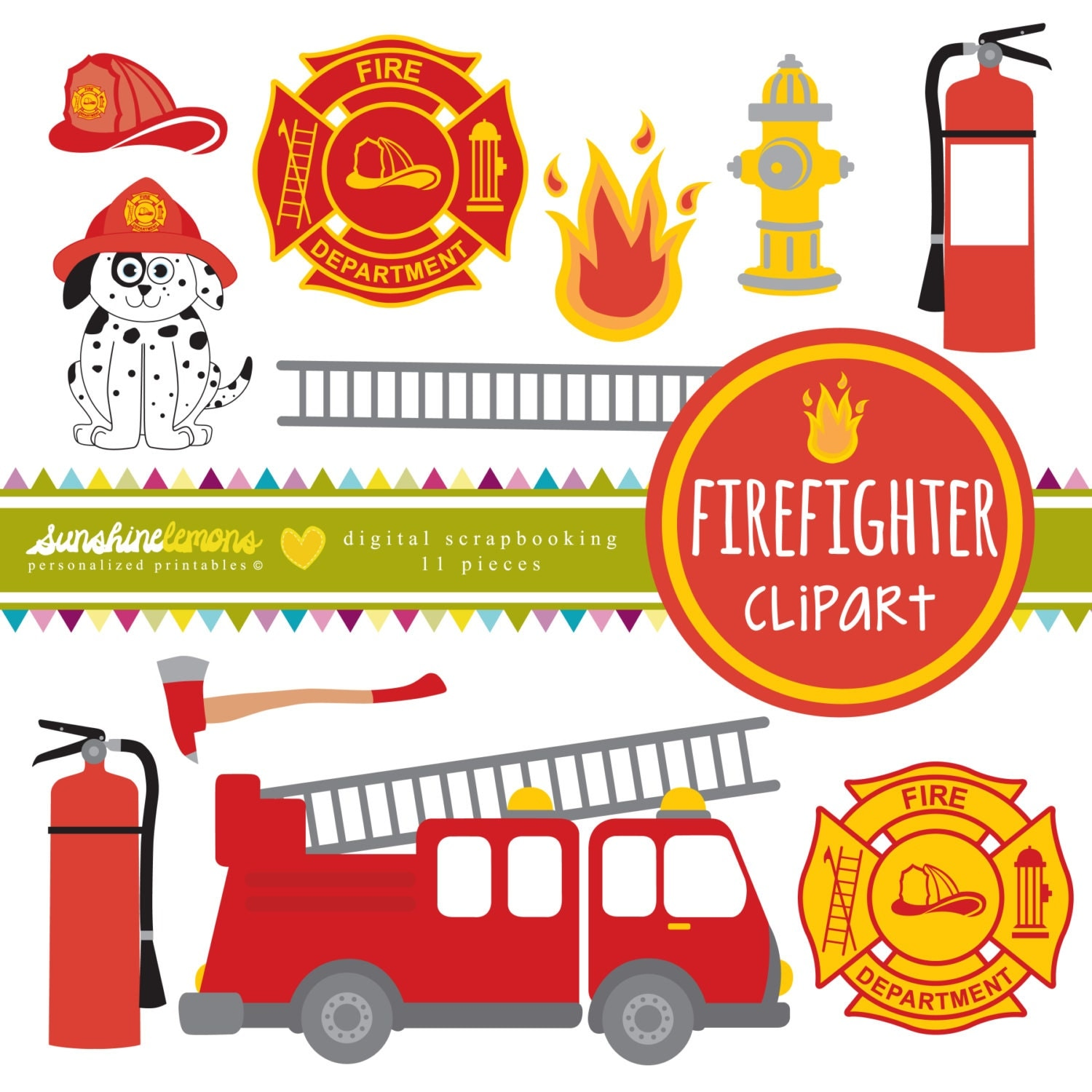 Firehouse Dalmatian Clipart Firefighter clipart fire