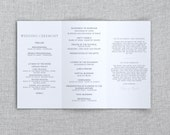 Just My Type Wedding - Tri-Fold Wedding Program Template - Instant Download - Editable Word Doc