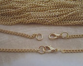 50pcs 70cm gold color necklace chain 3mm with lobster clasp