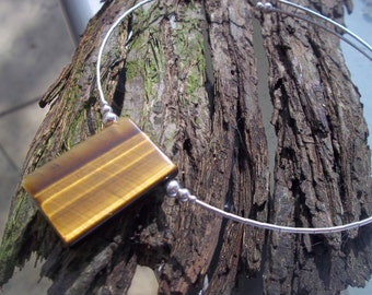 Handmade Tigerseye and Sterling silver necklet