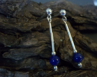 Lapis lazuli & sterling silver earrings
