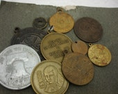 Coins Vintage Medals Destash Pendants Found Objects for Repurpose Altered Art
