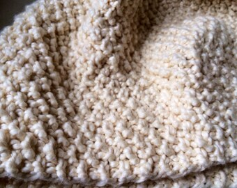 Organic Knit Baby Blanket / Vegan / Cotton Baby Blanket