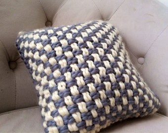 Textured Pillow / Weaved Decorative Pillow insert Included