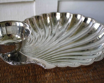 Vintage silver shell tray, International Silver Company