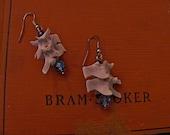 dangling snake vertebrae earrings