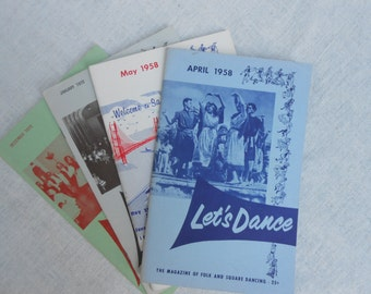 4 Vintage Let's Dance Magazine from 1958 and1972. Wonderful Costume Ideas.