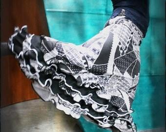Mermaid cut flamenco cosplay dance performance skirt with 5 ruffles